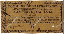 6 Sols FRANCE régionalisme et divers VALENCIENNES 1792 Kc.59.111a TTB