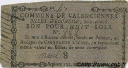 8 Sols FRANCE régionalisme et divers VALENCIENNES 1792 Kc.59.113b TTB