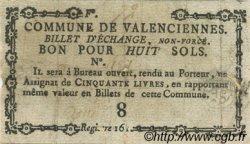 8 Sols FRANCE régionalisme et divers Valenciennes 1792 Kc.59.113b TB
