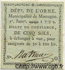5 Sols FRANCE régionalisme et divers Mortagne 1792 Kc.61.362 TTB