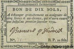 10 Sols FRANCE régionalisme et divers SAINT CORNIER 1792 Kc.61.521 TTB