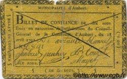 10 Sous FRANCE régionalisme et divers Ambert 1792 Kc.63.019 TB