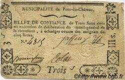3 Sous FRANCE régionalisme et divers PONT DU CHATEAU 1792 Kc.63.114 TTB