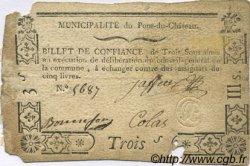 3 Sous FRANCE régionalisme et divers PONT DU CHATEAU 1792 Kc.63.114 TB