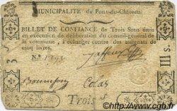3 Sous FRANCE régionalisme et divers Pont Du Chateau 1792 Kc.63.114 TB+