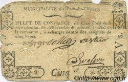 5 Sous FRANCE régionalisme et divers Pont Du Chateau 1792 Kc.63.115 TB