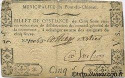 5 Sous FRANCE régionalisme et divers PONT DU CHATEAU 1792 Kc.63.115 TTB