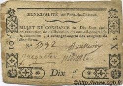 10 Sous FRANCE régionalisme et divers PONT DU CHATEAU 1792 Kc.63.116 TB+