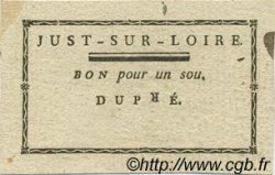 1 Sou FRANCE régionalisme et divers Just Sur Loire 1792 Kc.69.022 SUP