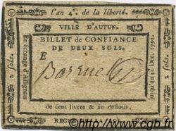 2 Sols FRANCE régionalisme et divers Autun 1792 Kc.71.001a TTB