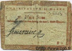 8 Sous FRANCE régionalisme et divers MACON 1792 Kc.71.040b TTB