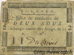 2 Sous FRANCE régionalisme et divers TOURNUS 1792 Kc.71.071d TTB