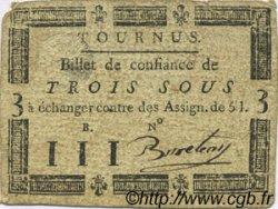 3 Sous FRANCE régionalisme et divers Tournus 1792 Kc.71.072c TTB