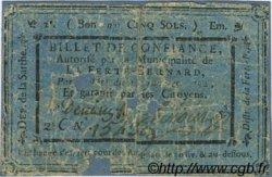 5 Sols FRANCE régionalisme et divers LA FERTE BERNARD 1792 Kc.72.035a TB