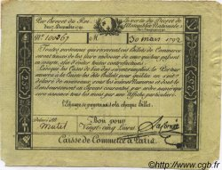 25 livres FRANCE régionalisme et divers PARIS 1792 Kc.75.033 TTB