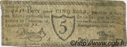 5 Sols FRANCE régionalisme et divers PARIS 1792 Kc.75.072 TTB