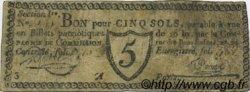 5 Sols FRANCE régionalisme et divers PARIS 1792 Kc.75.072 TB