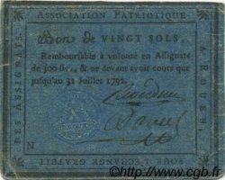 20 Sols FRANCE régionalisme et divers Rouen 1792 Kc.76.133var TTB