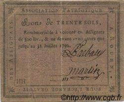 30 Sols FRANCE régionalisme et divers Rouen 1792 Kc.76.134var TB