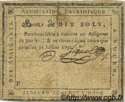 10 Sols FRANCE régionalisme et divers ROUEN 1792 Kc.76.138 TB