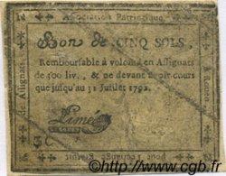 5 Sols FRANCE régionalisme et divers Rouen 1792 Kc.76.158 TB