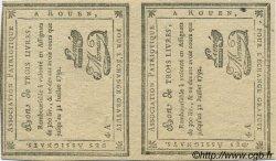 3 Livres FRANCE régionalisme et divers Rouen 1792 Kc.76.162 SUP