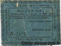 1 Sol FRANCE régionalisme et divers LE TREPORT 1792 Kc.76.192 TB