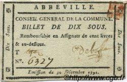 10 Sous FRANCE régionalisme et divers Abbeville 1791 Kc.80.004m SUP