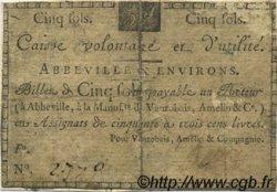 5 Sols FRANCE régionalisme et divers ABBEVILLE 1792 Kc.80.006 TB