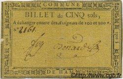 5 Sols FRANCE régionalisme et divers Ham 1792 Kc.80.024 TB