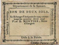 2 Sols FRANCE régionalisme et divers HANGEST 1792 Kc.80.035 TTB