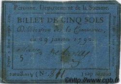 5 Sols FRANCE régionalisme et divers Peronne 1792 Kc.80.076e TB