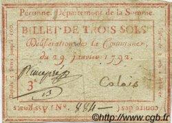 3 Sols FRANCE régionalisme et divers PERONNE 1792 Kc.80.082 TTB
