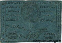 15 Sols FRANCE régionalisme et divers Peronne 1792 Kc.80.084 TTB