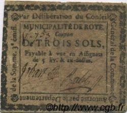 3 Sols FRANCE régionalisme et divers ROYE 1792 Kc.80.095 TB