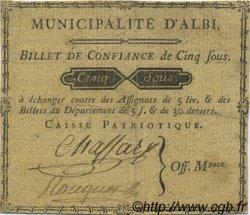 5 Sous FRANCE régionalisme et divers Albi 1792 Kc.81.007 TTB