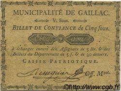 5 Sous FRANCE régionalisme et divers GAILLAC 1792 Kc.81.021 TTB