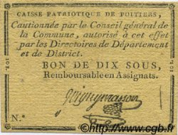 10 Sous FRANCE régionalisme et divers POITIERS 1792 Kc.86.038 TTB