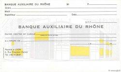 Francs FRANCE régionalisme et divers Lyon 1960 DOC.Chèque NEUF