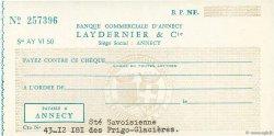 Francs FRANCE régionalisme et divers Annecy 1940 DOC.Chèque NEUF