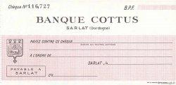 Francs FRANCE régionalisme et divers Sarlat 1943 DOC.Chèque SPL