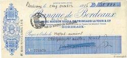 50000 Francs FRANCE régionalisme et divers BORDEAUX 1915 DOC.Chèque TTB