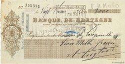 3000 Francs FRANCE régionalisme et divers Dinan 1935 DOC.Chèque TTB