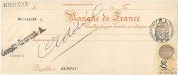 Francs FRANCE régionalisme et divers BERNAY 1933 DOC.Chèque SPL