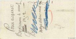 38000 Francs FRANCE régionalisme et divers Bordeaux 1912 DOC.Chèque TTB