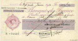 Francs FRANCE régionalisme et divers MAZAMET 1931 DOC.Chèque TTB