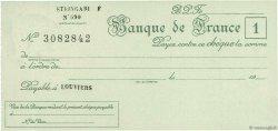 Francs FRANCE régionalisme et divers LOUVIERS 1943 DOC.Chèque SPL