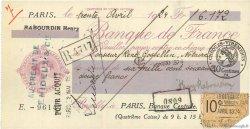 6172 Francs FRANCE régionalisme et divers Paris 1924 DOC.Chèque TTB
