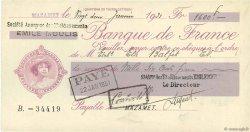 1600 Francs FRANCE régionalisme et divers MAZAMET 1931 DOC.Chèque SUP