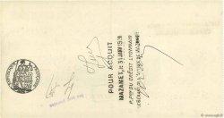 8246,55 Francs FRANCE régionalisme et divers MAZAMET 1931 DOC.Chèque TTB